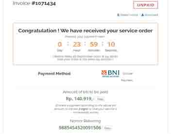 domain bayar pesan