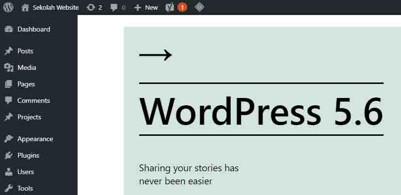 tutorial update wordpress